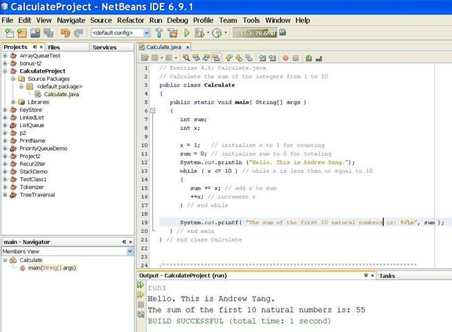 T  Andrew Yang: CSCI 3134 Java - Assignments & Projects